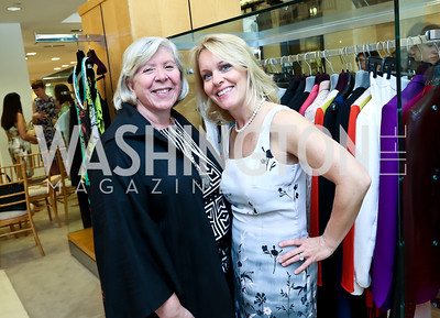 Leah Gansler, Angie Pagnato. Photo by Tony Powell. Reed Krakoff Fashion Show and Brunch. Saks Jandel. May 18, 2014