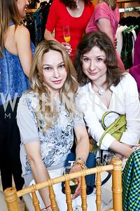 Irina Rapoport, Marianna Gray. Photo by Tony Powell. Reed Krakoff Fashion Show and Brunch. Saks Jandel. May 18, 2014
