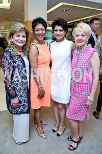 Annie Totah, Andrea Roane, Shamim Jawad, Carol Lascaris. Photo by Tony Powell. Reed Krakoff Fashion Show and Brunch. Saks Jandel. May 18, 2014