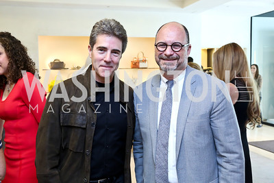 Peter Marx, Peter Taub. Photo by Tony Powell. Reed Krakoff Fashion Show and Brunch. Saks Jandel. May 18, 2014