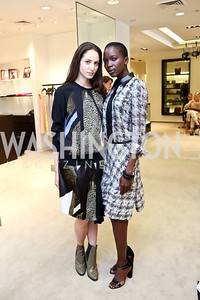 Noa Wilker, Fatou Ndiaye. Photo by Tony Powell. Reed Krakoff Fashion Show and Brunch. Saks Jandel. May 18, 2014