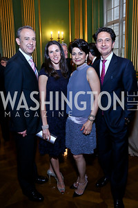 Arturo Sarukhan, Veronica Valencia, Shamim Jawad, Said Jawad. Photo by Tony Powell. Refugees International 35th Annual Dinner. Mellon Auditorium. April 30, 2014
