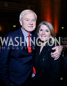 Chris and Kathleen Matthews. Photo by Tony Powell. Refugees International 35th Annual Dinner. Mellon Auditorium. April 30, 2014