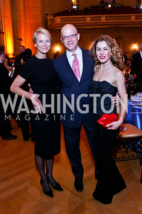 Cathy Brentzel, Matthew Nicely, Severina Mladenova. Photo by Tony Powell. Refugees International 35th Annual Dinner. Mellon Auditorium. April 30, 2014