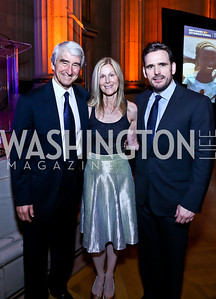 Sam Waterston, Eileen Shields-West, Matt Dillon. Photo by Tony Powell. Refugees International 35th Annual Dinner. Mellon Auditorium. April 30, 2014
