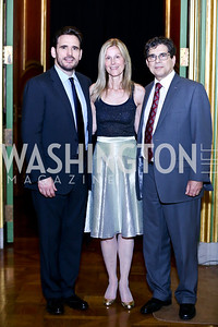 Matt Dillon, Eileen Shields West, Michel Gabaudan. Photo by Tony Powell. Refugees International 35th Annual Dinner. Mellon Auditorium. April 30, 2014