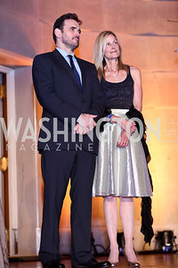 Matt Dillon, Eileen Shields-West. Photo by Tony Powell. Refugees International 35th Annual Dinner. Mellon Auditorium. April 30, 2014