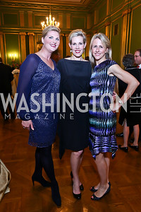 Alison Morrison, Elizabeth Blalack, Rebecca Shaffer. Photo by Tony Powell. Refugees International 35th Annual Dinner. Mellon Auditorium. April 30, 2014