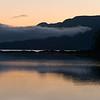 Sunrise with fog, Rescue Bay, BC