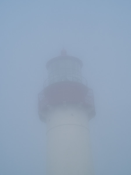 Impressionist view of the Cape May Lighthouse in the gloom