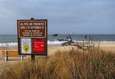 Notice at Sunset Beach.