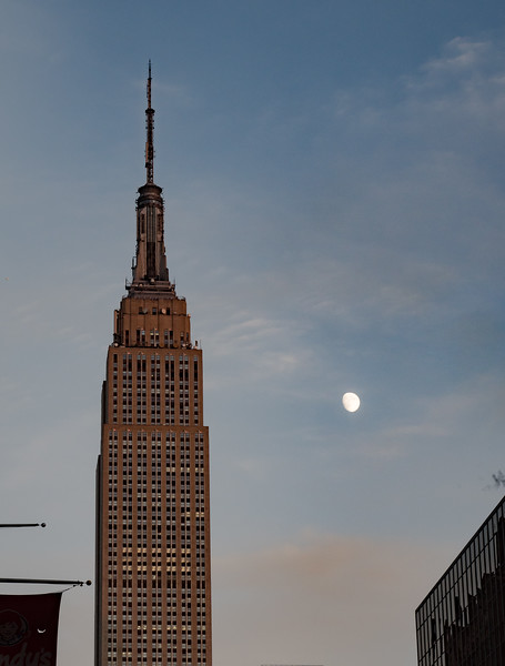 Empire State Building at Moonrise