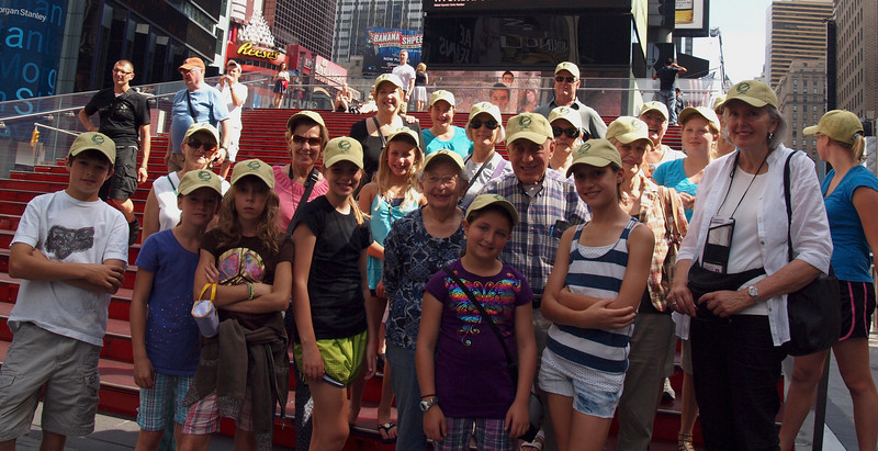 The group at Times Square