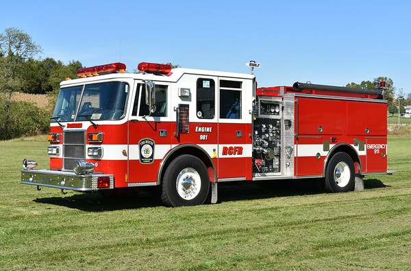 Rockingham County, Virginia Reserve Engine 901, a 1997 Pierce Dash 1250/750 with job number EA522.  It was originally delivered to Timberville, VA (also in Rockingham County) as their Engine 653 and sold to the county in 2016.