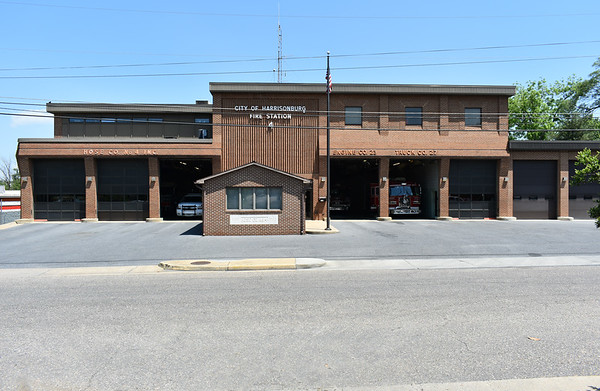 Harrisonburg Fire Station 4 and Rockingham County Hose Company 4 share a facility.  Hose Company 4 apparatus are located on the left side, and Harrisonburg Station 4 units operate on the right.
