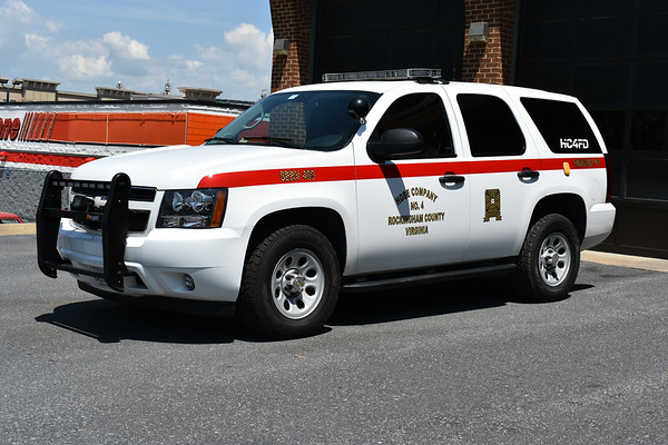Hose Company 4 in Rockingham County, Virginia - SERV 400 is a 2013 Chevrolet Tahoe.