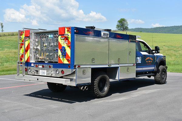 The back end of Attack 754 from Singers Glen, VA.