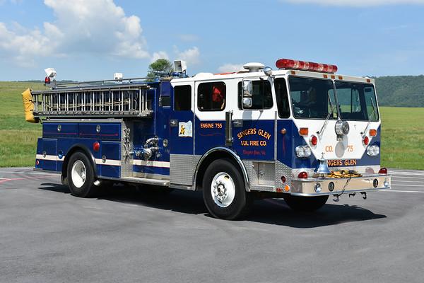 Officer view of Singers Glen, VA Engine 755.