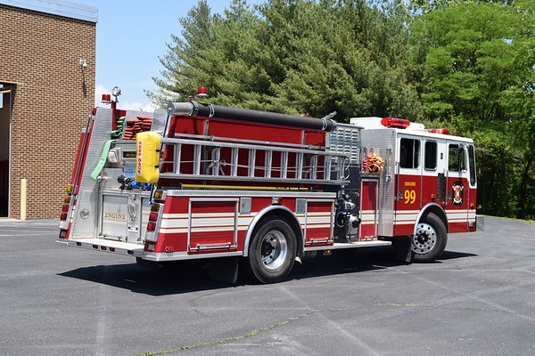 A rear and officer view of Engine 99.