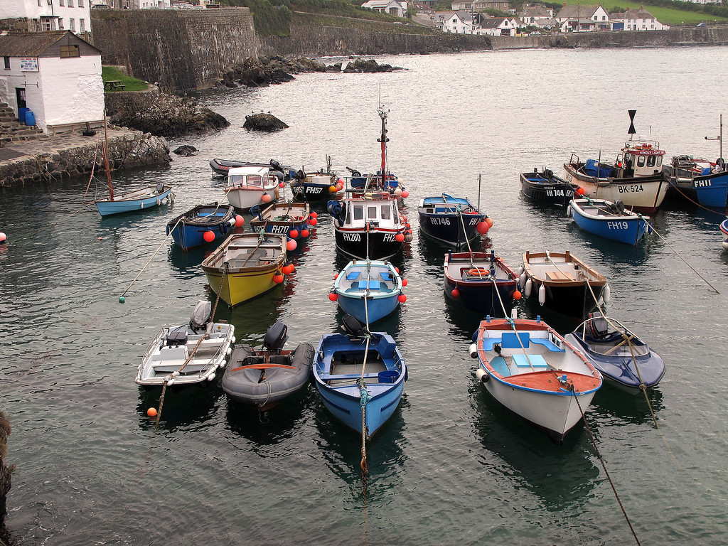 Coverack, today's destination, with its small picturesque harbour.
