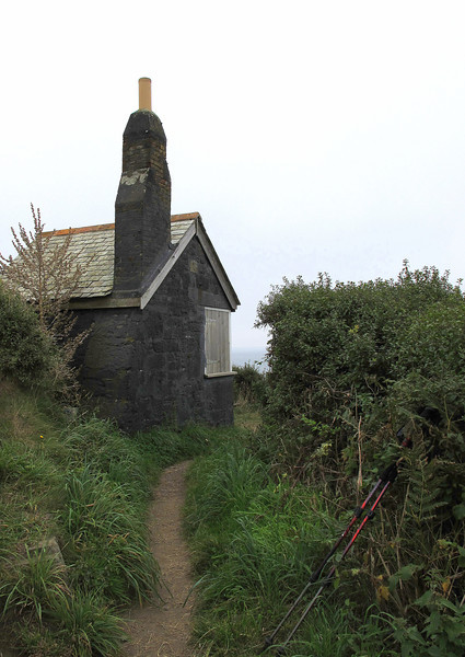 Th 'Lookout' at Cadgwith, once a Huer's Hut and Coastguard lookout.