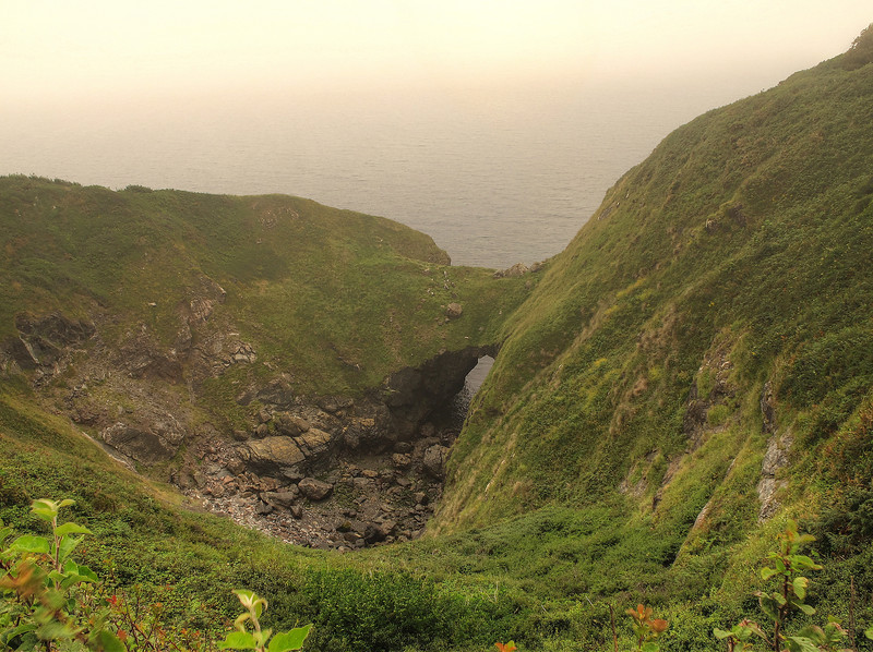 A collapsed sea cave at The Devils Frying Pan, Cadgwith.