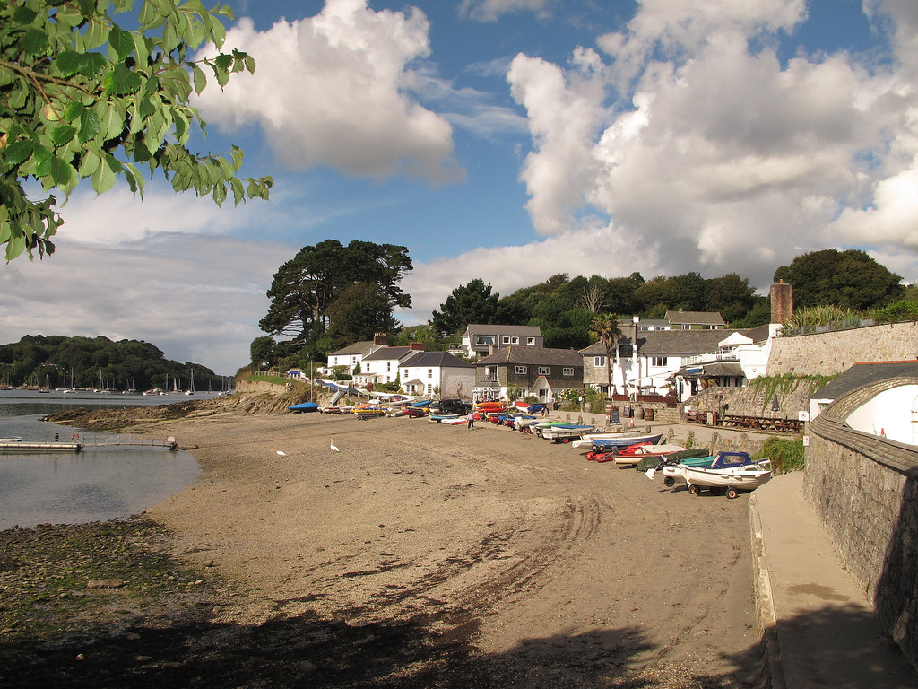 Helford Passage, over the river by ferry from Helford - certainly a very attractive part of the world.