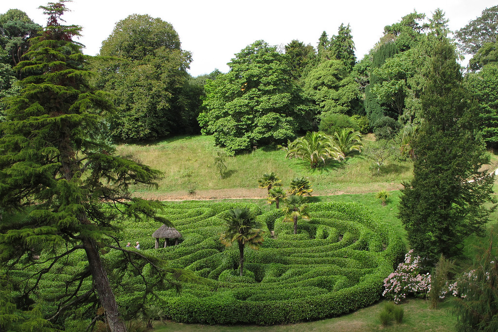 A maze at the Glendurgan Gardens.