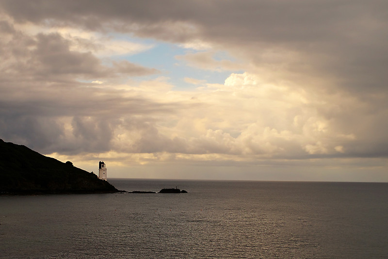 Saint Anthony's Lighthouse at the eastern entrance to Falmouth Harbour guides vessels clear of the Manacles rocks, south of the harbour entrance.