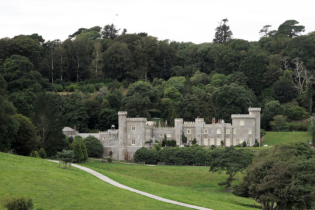 Caerhays Castle, a castellated manor house by John Nash.