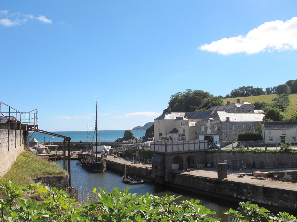 Charlestown Harbour - note the film set on the quayside.