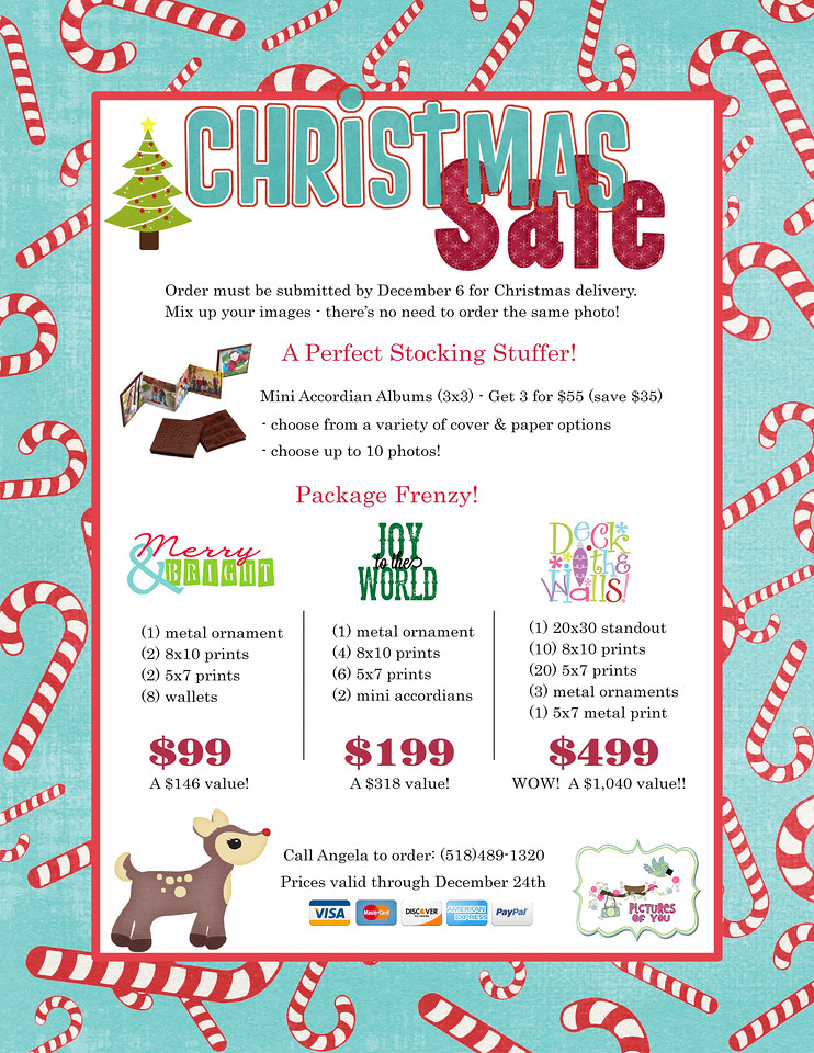 Holiday Sales Packages Flyer