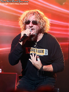 Sammy Hagar and the Wabos bring their Four Decades of Rock tour to Lowell, MA on October 25, 2013.