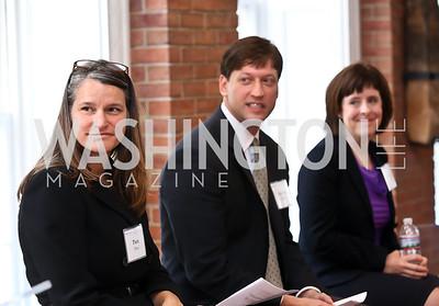 Pam Hess, Michael Babin, Lindsay Smith. Photo by Tony Powell. S&R Foundation's Illuminate. Evermay Estate. November 6, 2014