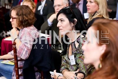 Nora Maccoby Hathaway. Photo by Tony Powell. S&R Foundation's Illuminate. Evermay Estate. November 6, 2014