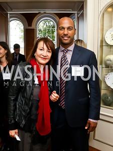 Nora Pouillon, Kevin Friend. Photo by Tony Powell. S&R Foundation's Illuminate. Evermay Estate. November 6, 2014