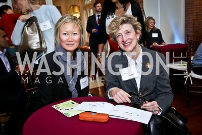 Sharapat Kessler, Ann Friedman. Photo by Tony Powell. S&R Foundation's Illuminate. Evermay Estate. November 6, 2014