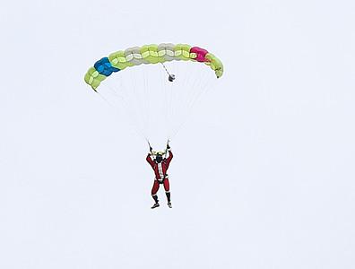 Santa Skydiving event at William H. Morse State Airport. 120316