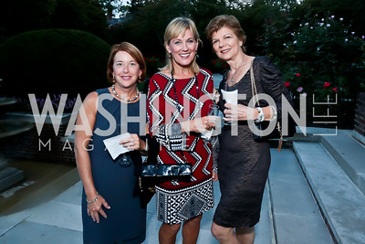 Louisa Hollman, Marcy Cohen, Pamela Ginzburg. Photo by Tony Powell. Sasha Bruce Youthwork's Dinner. British Amb.'s Residence. September 23, 2014
