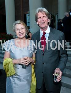 Sylvia Ripley, Christopher Addison. Photo by Tony Powell. Sasha Bruce Youthwork's Dinner. British Amb.'s Residence. September 23, 2014