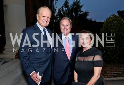 George Stevens Jr., Gov. Jim Blanchard and Janet Blanchard. Photo by Tony Powell. Sasha Bruce Youthwork's Dinner. British Amb.'s Residence. September 23, 2014