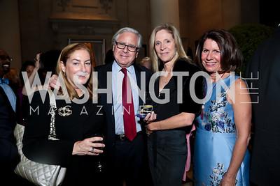 Amy Nathan and Howard Fineman, Julia Tolkan, Bobbi Smith. Photo by Tony Powell. Sasha Bruce Youthwork's Dinner. British Amb.'s Residence. September 23, 2014