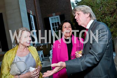 Sylvia Ripley, Ann Jordan, Christopher Addison. Photo by Tony Powell. Sasha Bruce Youthwork's Dinner. British Amb.'s Residence. September 23, 2014