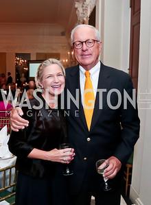 Heather Kirby, Jim Johnson. Photo by Tony Powell. Sasha Bruce Youthwork's Dinner. British Amb.'s Residence. September 23, 2014