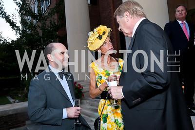 Hughes Bates, Barbara Crocker, Chase Rynd. Photo by Tony Powell. Sasha Bruce Youthwork's Dinner. British Amb.'s Residence. September 23, 2014