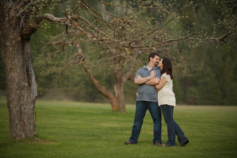 Eskimo kisses under the apple tree