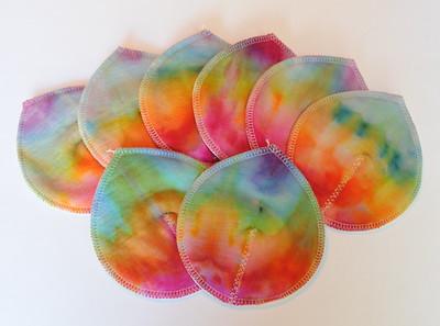 ONE Pair of Super Soaker Nursing Pads - bamboo fleece - �ice dye�