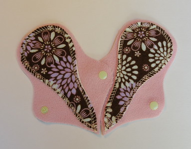 """TWO Thong Liners - flannel - """"flowers"""""""