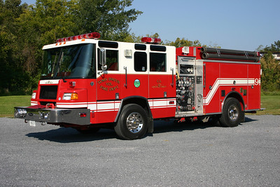 Wagon 9 is one of the first Pierce Quantums in Virginia (a 1996 model).  It is equipped with a 1250/1000, sn-EA055.
