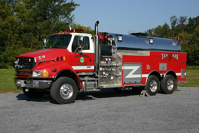Tanker 9 is this nice 2005 Sterling/2007 Seagrave, 1750/3500.  The body work was completed by Seagrave when New Lexington went bankrupt and could not complete the truck.